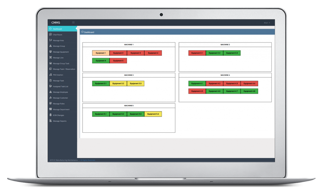 Helps manufacturing team to easily compare planned vs actual periodic maintenance task