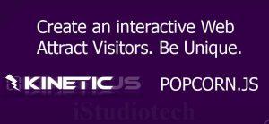 INTERACTIVE WEBSITE DESIGN USING KINETIC.JS & POPCORN.JS