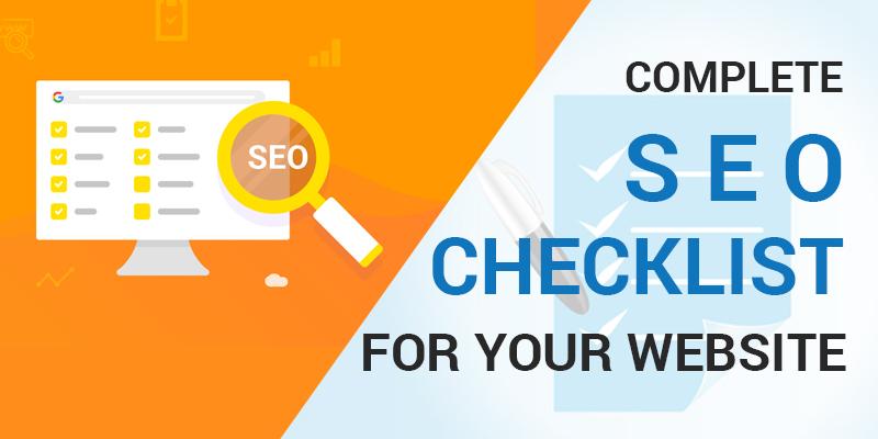 Complete SEO Checklist for Your Website | Web design company