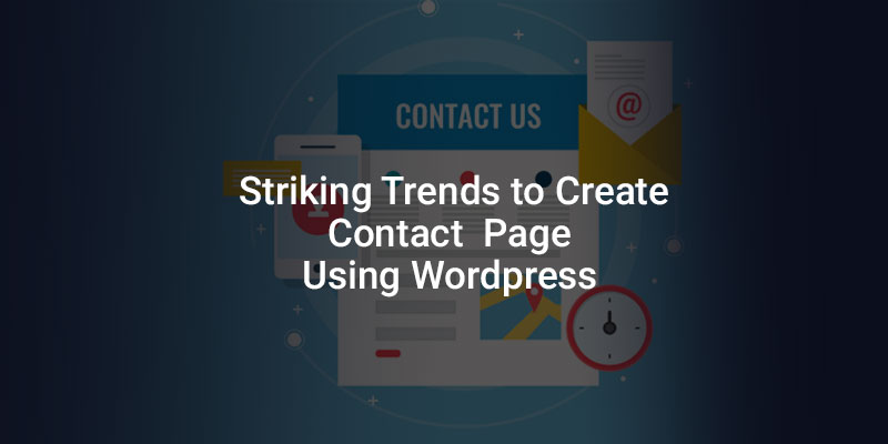 to create contact page using wordpress