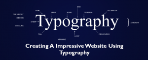 Creating a impressive website using typography