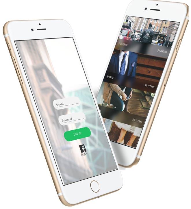 login-mobile-ecommerce-categories