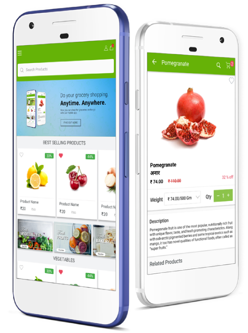 Grocery ECommerce Mobile App features
